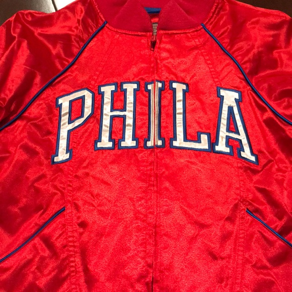 f93c4294d94 NBA Jackets & Coats | Philadelphia 76ers Womens Throwback Jacket ...